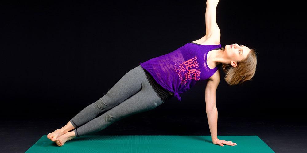 Plancha lateral para hacer abdominales oblicuos