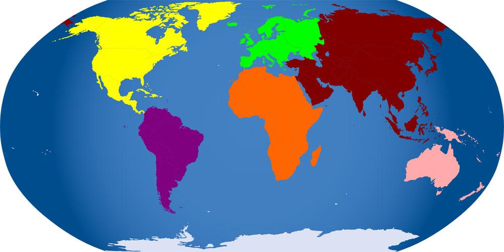 Cuántos continentes hay