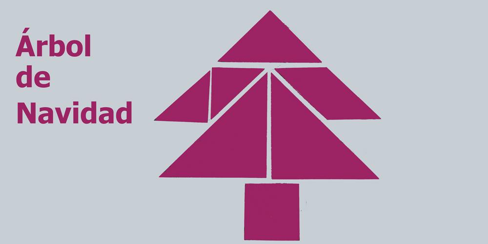Tangram: árbol de Navidad