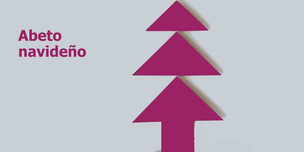 tangram: abeto navideño