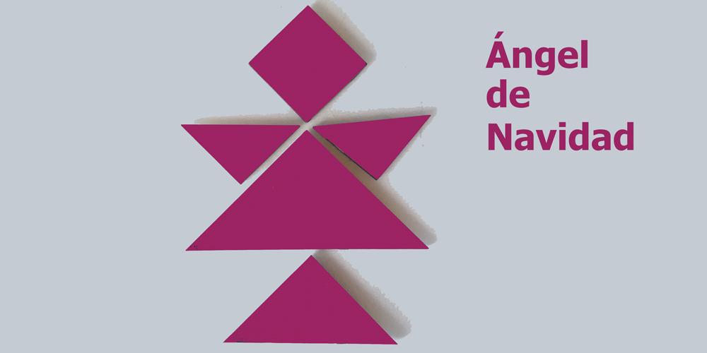 Ángel de Navidad de tangram