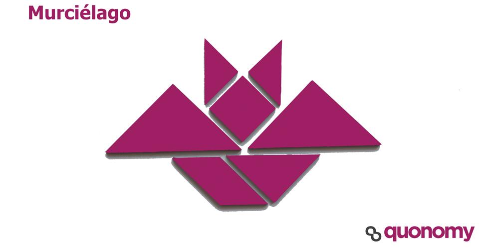 tangram de murciélago