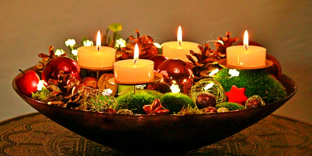 Aprende a decorar con velas de navidad