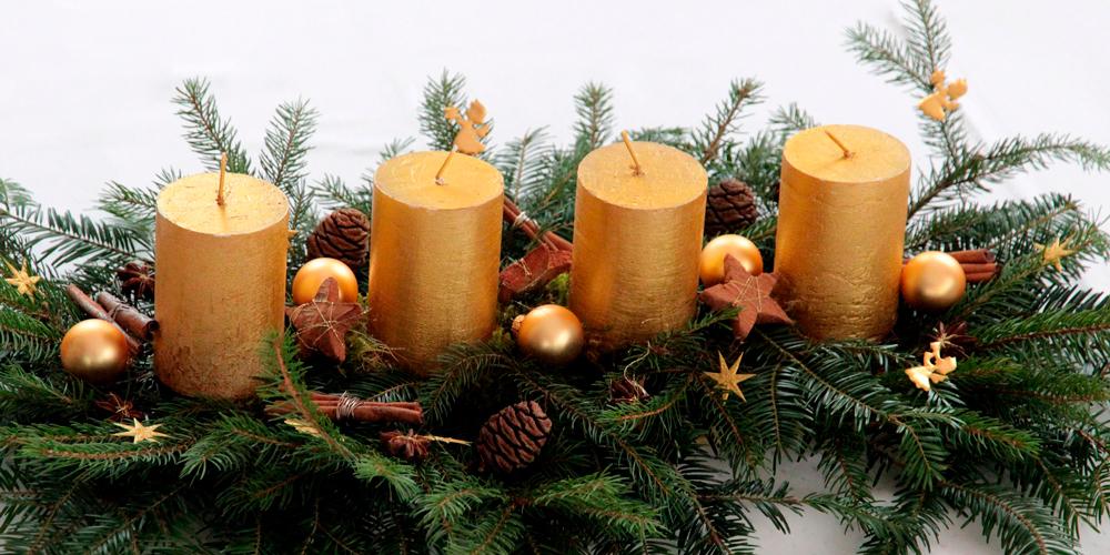 Velas de Navidad personalizadas