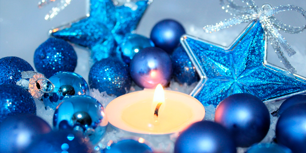 decorar con velas navideñas