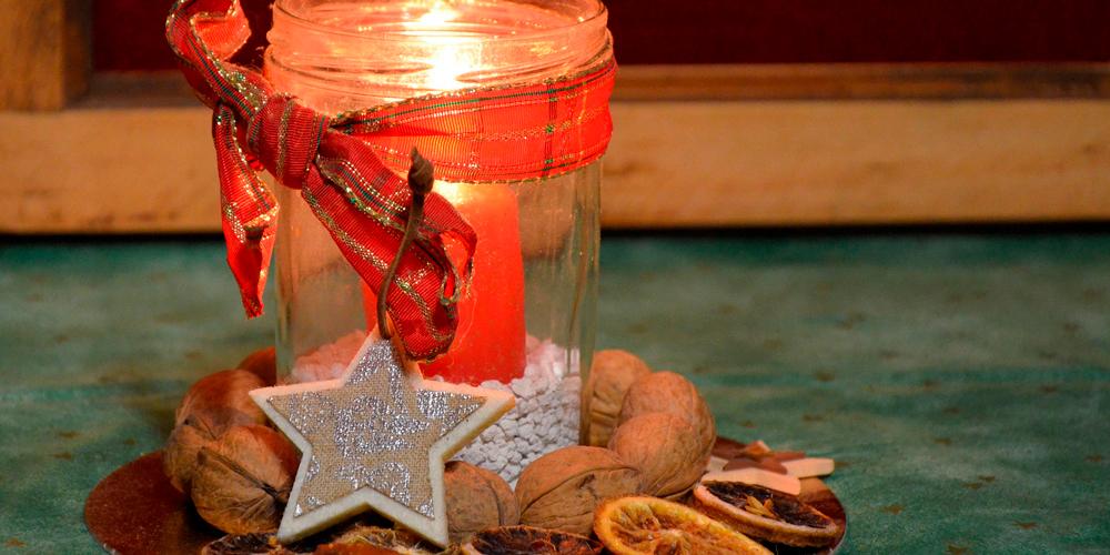 Velas navideñas caseras