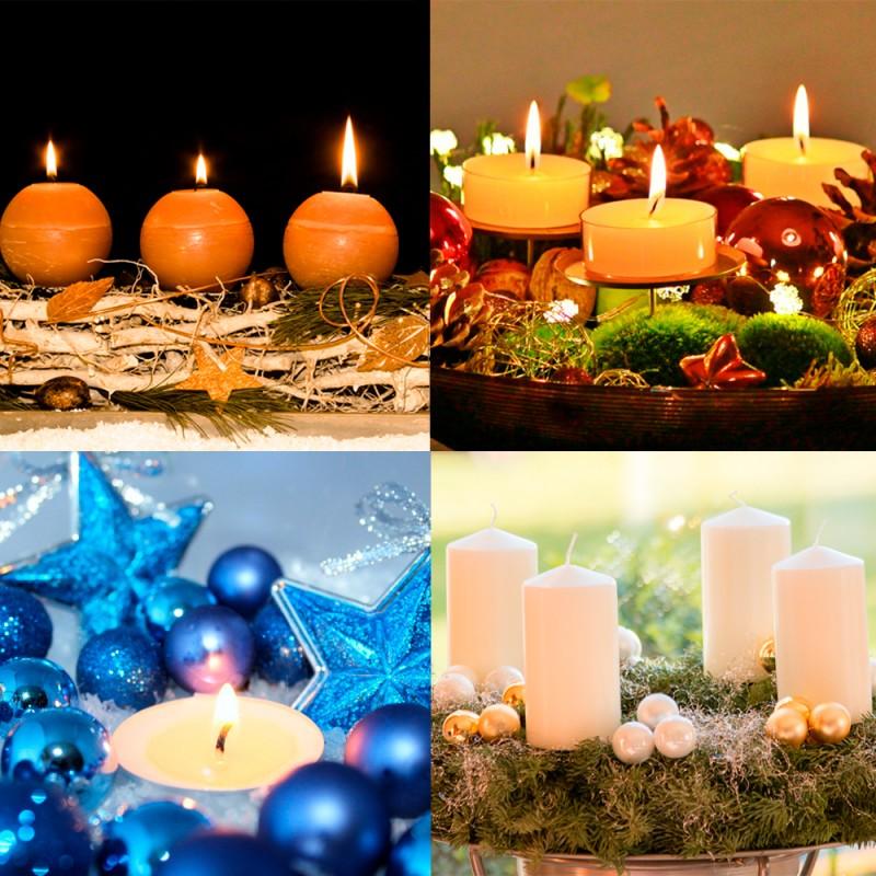 Cómo decorar con velas de Navidad. Ideas para crear centros de mesa navideños con velas