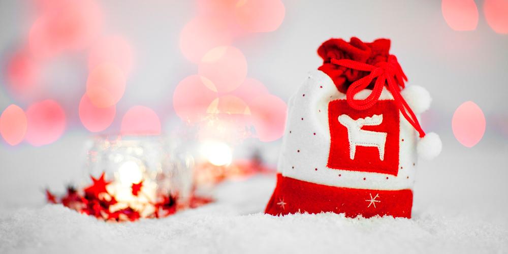bolsa de regalo de navidad